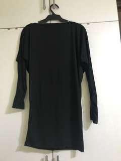 Unarosa Black Mini Dress/long blouse