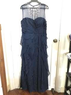 3XL Adrianna Papell Dark Blue Evening Gown