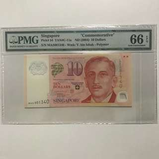 MAS001340 $10 portrait series