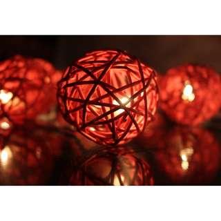 Dusty Rose (Rattan Ball Fairy Lights)