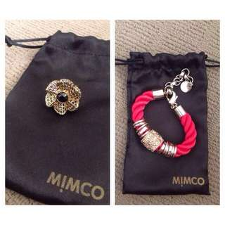 Negotiable - Mimco Ring and Bracelet