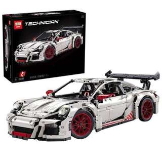 **Popular Set, Ready Stock** Lepin  20001 Porsche 911 GT3 RS (White)