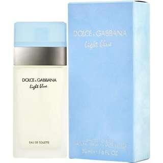 Dolce & Gabbana light blue eu de toilette 50ml w/ box not a tester
