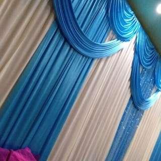 Mini dais backdrop for wedding / stage