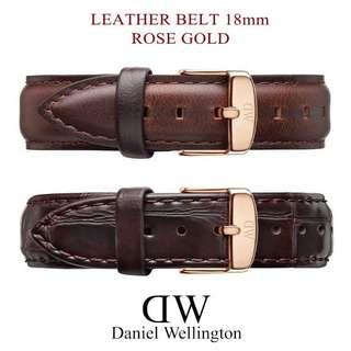 Daniel Wellington DW 18mm leather straps ( Suit for 36mm watches )