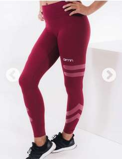 Aimn Burgundy Tribe Leggings
