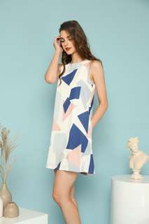 BNWT TSW Olea Geometric Trapeze Dress