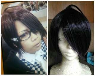 Dark violet wig (almost black)