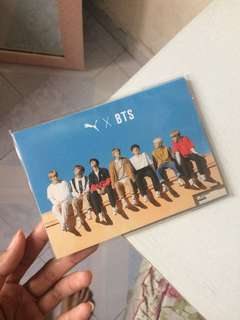 OFFICIAL BTSxPUMA PHOTOCARD puma turin