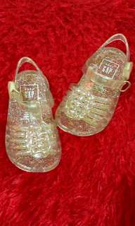 Baby Gap Clear Glittered Jelly Shoes