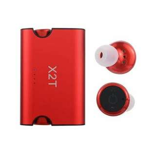 X2t true wireless earphones red