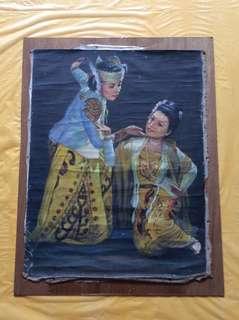 1987年旧油画.  oil painting