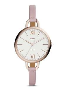 Fossil Annette 3-Hand Pastel Leather Watch ES4356 Fossil