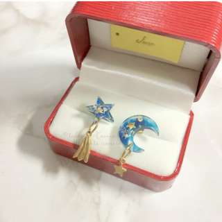 MADE IN KOREA Very Pretty Moon and Star Earrings 宇宙星球星星月亮耳環