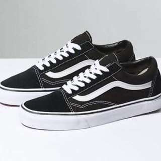 Vans old school. All black and black & white