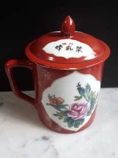 老陶瓷杯 10.5cmx9cm Antique Porcelain Cup