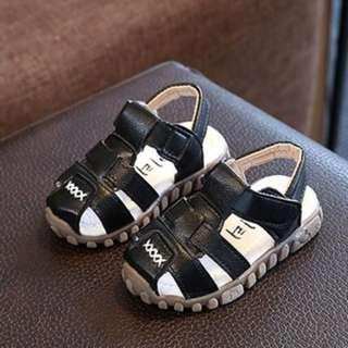 Kids Boys Black Sandal Shoes (21-30)