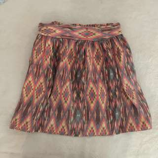 Aztec Print Skirt (Light)