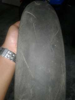 tayar slick secondhand pirelli slick 120/70
