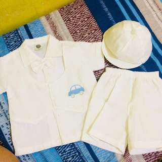 Formal Wear/Pambinyag for Baby Boy with Free Shoes