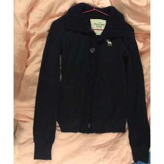🚚 Abercrombie & fitch a&f 針織 刷毛保暖 少見 立領外套