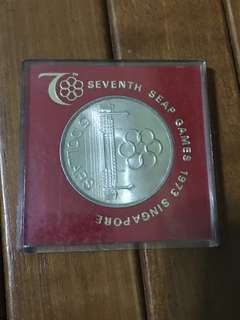 1973 Silver SEAP GAMES Coin
