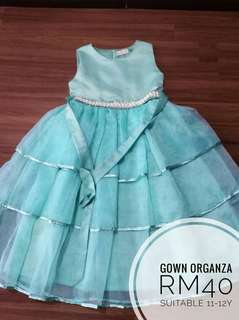 Princess Dress mint green 11-12y