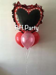 (2/6) Pen your own message : include helium personalise / customized jumbo foil balloon