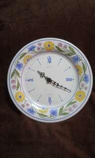 Vintage Ceramic Plate Clock