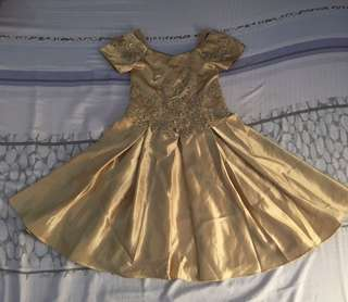 Elegant gold dress