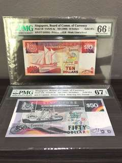 Matching pair F/7 555556 High Grade Superb GEM UNC EPQ