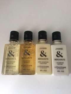 Loccitane Jasmin & Bergamote set of 4