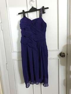 Debenhams Purple One Strap Dress