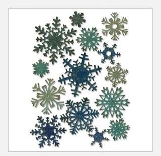 Sizzix thinlits snowflake die, 14pcs