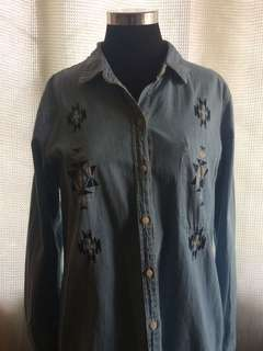 Forever 21 Denim Button Down Shirt
