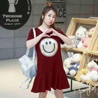 🎀Shimmering Smile Plus size Tshirt Dress🎀
