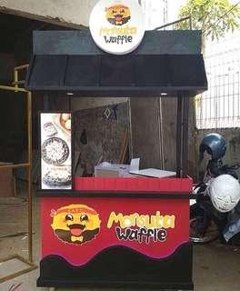 Rombong Gerobak Booth Kayu Jualan