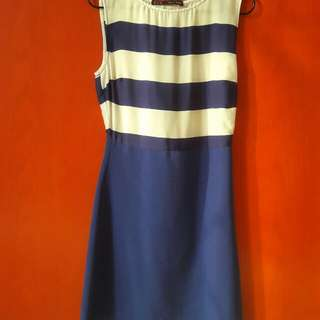 Dress ZARA Garis Biru