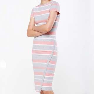 [po open] cotton on - short sleeve midi dress