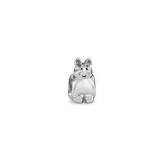 Silver Pandora Charm - Cat - Antique