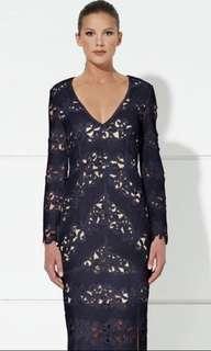 Winona Navy Lace Dress