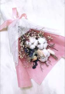 Dried Flower Bouquet with rocher