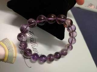 紫黃晶 水晶 手鏈