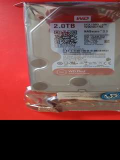 WD RED 2TB NAS Hard Disk SATA 6Gbs 5400RPM 64MB