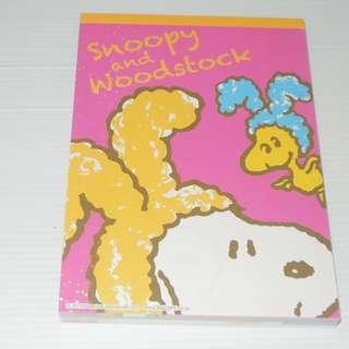 Snoopy and Woodstock Memo Pad 紙 ~ Rabbit Pattern (Pink)