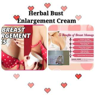 Herbal Natural Bust Breast Enlargement Cream ○ NoChemical ○ Gentle to skin ○ Apply Bust or Butt Area○ Firming & Enlarge ○ More Feminie Body ○ A to D cup ○ Smooth skin ○ Remove wrinkles ○ Looking younger ○ Made in Uk ○