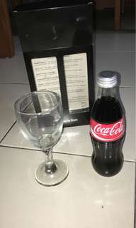 Cola wine glass n cola bottle drink