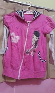 Jaket anak pink sweety