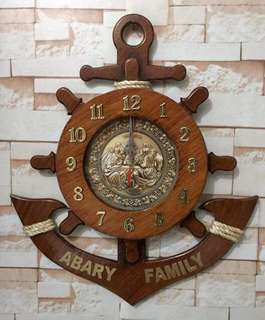 Wooden Anchore Clock ⚓️