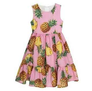 🎀KIDS WEAR PINEAPLE DRESS🎀